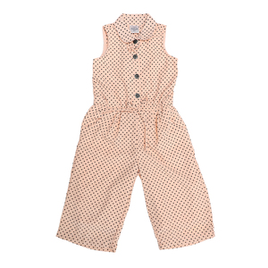 Doodle Girls Ankle/Full Length Jumpsuit Casual Dress- Peach- 4Y