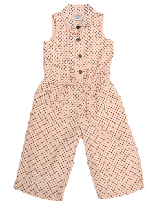 Doodle Girls Ankle/Full Length Jumpsuit Casual Dress- Peach- 6Y