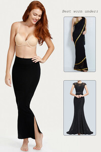 Zivame Medium Control Mermaid Saree Shapewear - Black