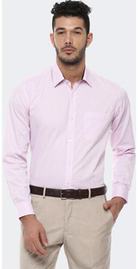 Louis Philippe Men Shirt  LPSFMSLBA29450 Pink