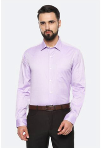 Louis Philippe Men Shirt LPSFMSLBG42021 Purple