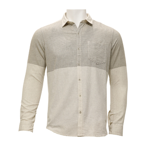 Marco Donateli Mens Casual Shirt Ls 1000711 Natural