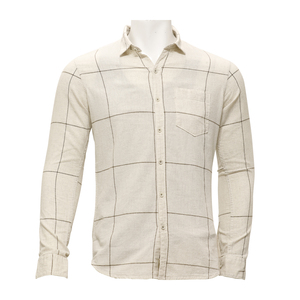 Marco Donateli Mens Casual Shirt Ls 1000712 Natural