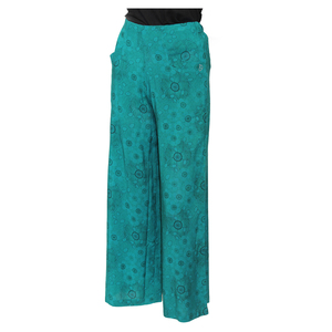 Teen19 Girls Casual Full Length Palazzo/Parallal Pant- Green