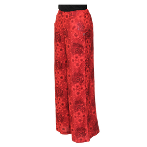 Teen19 Girls Casual Full Length Palazzo/Parallal Pant- Red