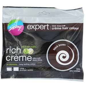 Godrej Expert Rich Creme Hair Colour Black Brown 20g