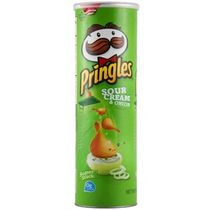 Pringles Sour Cream & Onion Potato Crisps 110g