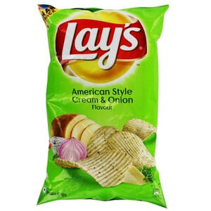 Lays American Style Cream & Onion Potato Chips 95g