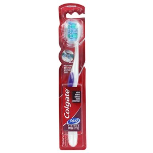 Colgate Toothbrush 360° Visible White 1 Pc Assorted Colours