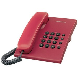 Panasonic Telephone KX-TS500 Red