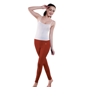 V-Star Ankle Length Tights-Coral Flame