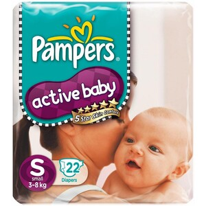 Pampers Active Baby Small 22's