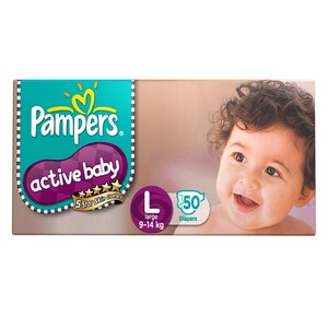 Pampers Active Baby Large 50's