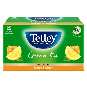 Tata Tetley Green Tea With Lemon & Honey 25 Tea Bags