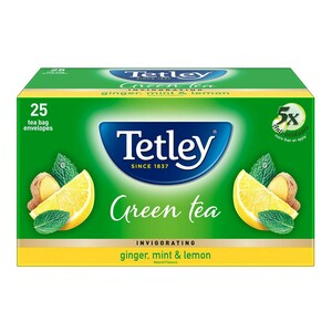 Tata Tetley Green Tea With Ginger, Mint And Lemon 25 Tea Bags