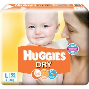 Huggies Dry Large 52's