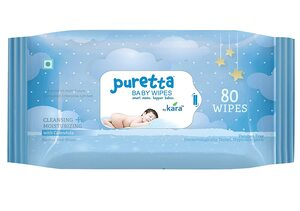 Puretta Cleaning Baby Wipes 80's