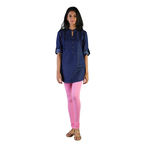 Twin Birds Women Solid Colour Churidar Legging with Signature Wide Waistband - Cotton Candy