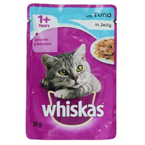 Whiskas Pet Food Tuna in Jelly 85g