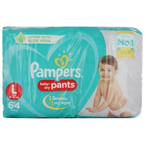 Pampers Diaper Pants Large 64 Units