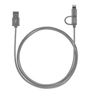Targus Lightning Micro USB Cable 1.2m Silver