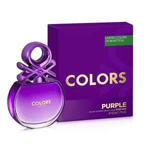 BENETTON COLORS PURPLE FOR HER EDT NAT SPRAY 50ML