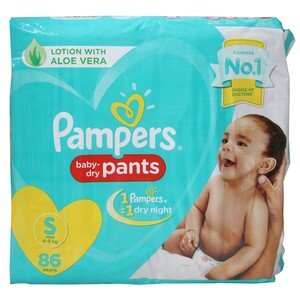 Pampers Pants Small Super Jumbo 86's