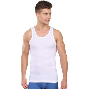 JOCKEY Mens Vest IC13 1Pc WHITE LARGE