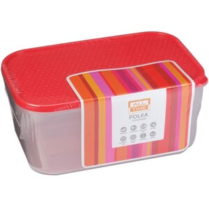 All Time Polka Container 1800ml Assorted
