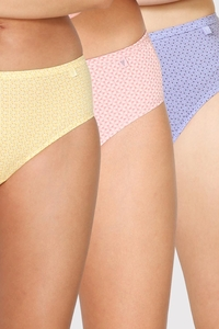 Van Heusen Woman Intimates Panty Hipster (Pack Of 3) - Light Assorted