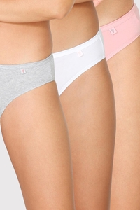 Van Heusen Woman Intimates Panty Bikini (Pack Of 3) - Light Assorted