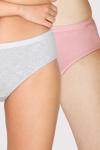 Van Heusen Woman Intimates Panty Hipster (Pack Of 2) - Light Assorted