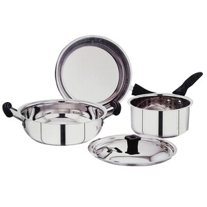 Chefline 3 Ply Cookware 4Pc Set