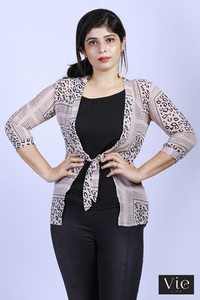 Vie Life Inner Attached Shrug Style Top - Light Pink