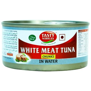 Tasty Nibbles White Meat Tuna Chunks In Water 185g