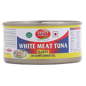 Tasty Nibbles White Meat Tuna Flakes In Sunflower Oil 185g