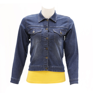 Zola Full Sleeve Denim Jacket Styled With 2 Patch Pockets - Stone/Mid Blue, Size-L