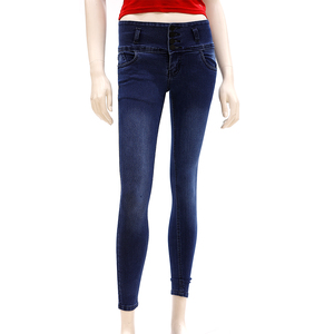 Zola Ankle Length High Waist Jeans With 4 Button Fly Front Zip Opening - Dx/Dark Indigo, Size-34