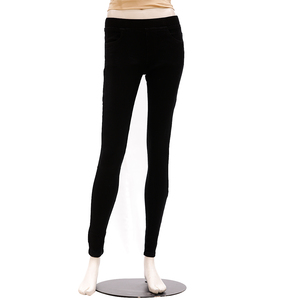 Zola Full Length Mid Waist Silky Finished Jegging - Black, Size-32