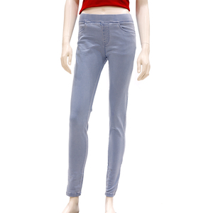 Zola Full Length Mid Waist Silky Finished Jegging - Ice Blue, Size-32