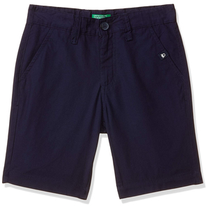 United Colors of Benetton Boy's Regular Fit Cotton Shorts- Navy Blue