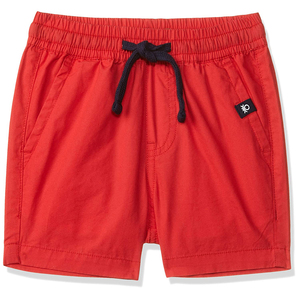 United Colors of Benetton Boy's Regular Fit Cotton Shorts- Red