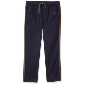 United Colors of Benetton Boy's Regular Fit Casual Pants- Navy Blue