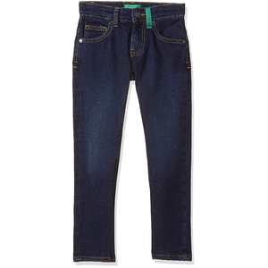 United Colors of Benetton Boy's Slim Fit Jeans- Navy Blue