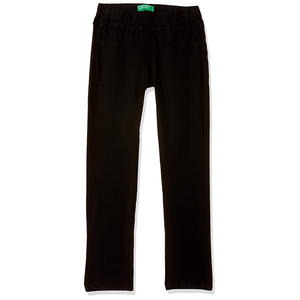United Colors of Benetton Girl's Skinny Fit Pants- Black