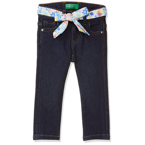 United Colors of Benetton Girl's Slim Fit Jeans- Dark Blue