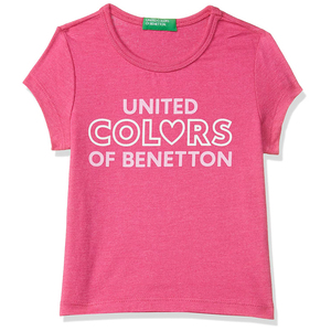 United Colors of Benetton Baby-Girl's Regular T-Shirt- Pink