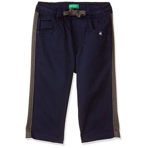 United Colors of Benetton Baby-Boy's Regular Fit Casual Pants- Navy Blue