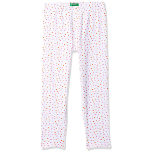 United Colors of Benetton Baby-Girl's Regular Fit Leggings- White