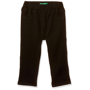 United Colors of Benetton Baby-Girl's Skinny Fit Pants- Black